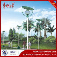 Q235 steel hot sale morden design decorative light pole modern solar garden lamp post design