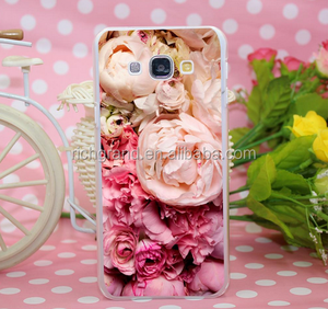 peony Transparent Hard Case Cover for Samsung Galaxy S5 S6 S7 A3 A5 A7 A8 Note 3 4 5 7