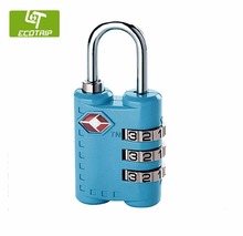 Customized made TSA 3 Combination Travel digital combination padlock