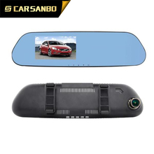 H201 5.0 inch Ambarella A12 1080p portable car camcorder hd car dvr mirror with GPS optional