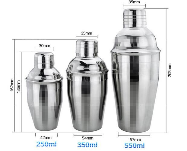 Amazon New Customized Design 3 Pieces Cocktail Boston Shaker Cup Set