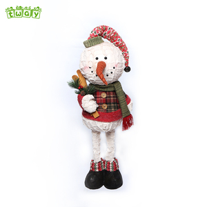 27''Promotion handmade crafts indoor outdoor doll foam head decor stuffed snowman sitting santa claus christmas