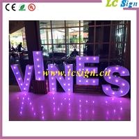 diy marquee letter sign battery led light up bulb letter for indoor decoration