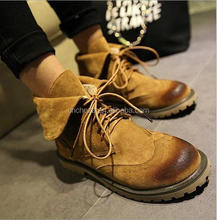 Z58055B new fashion women shoes american style flat ankle military boots