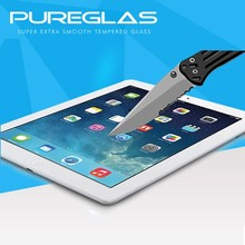 Factory price crystal clear anti-scratch for ipad 2 asahi tempered glass screen protector