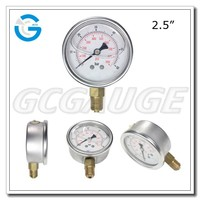 High quality 2.5inch 63mm brass internal bottom connection pressure gauge meter