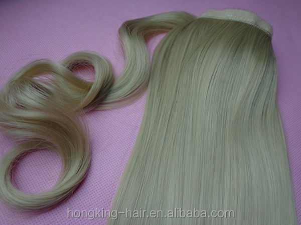 Brazilian remy human hair ponytail extension real hair human hair drawstring ponytail