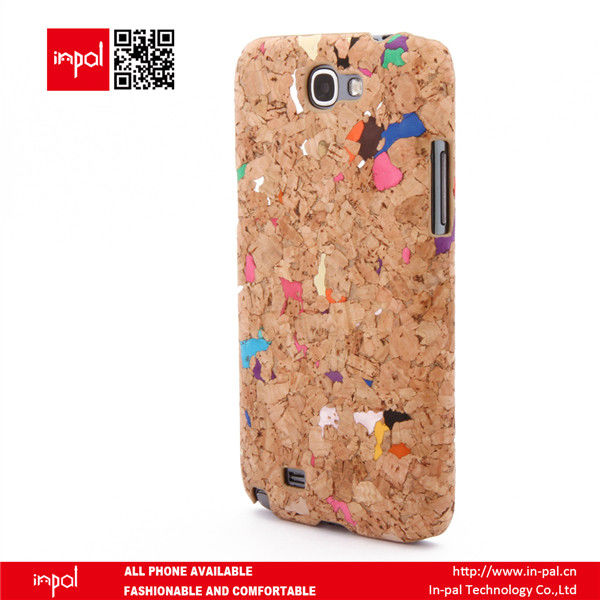 eco friendly funky design PC cork fabric mobile phone sleeve for samsung galaxy note 2