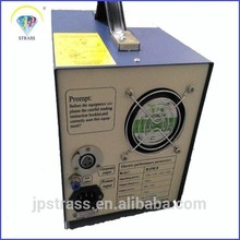 Latest ultrasonic automatic hot fixing RHINESTONES setting MACHINE;portable wholesale price rhinestone machine