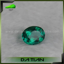 oval cut untreated synthetic emerald gemstone