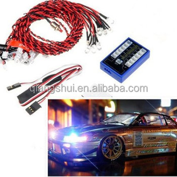 12 LED 4 operation modes Multi-color RC Car Flashing Light Lamp System 4.8-6.0V