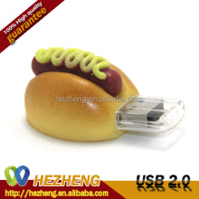 Alibaba Stock Price 4GB 3D PVC Delicious Food Shape USB Flash Drive Customized Logo