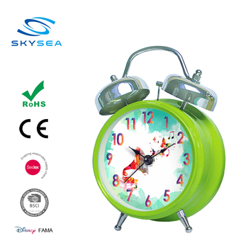 4.5 inches metal twin bell alarm clock, wake up light clock ,Europe type creative alarm clock