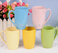 11OZ solid candy color ceramic coffee mug with handle