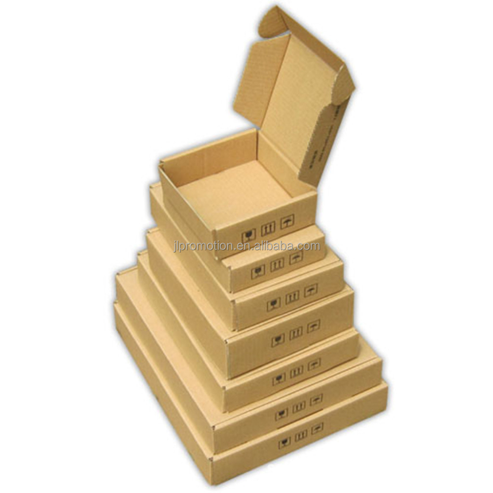 Popular Recyclable white/brown corrugated cardboard storage box foldable moving box shipping box