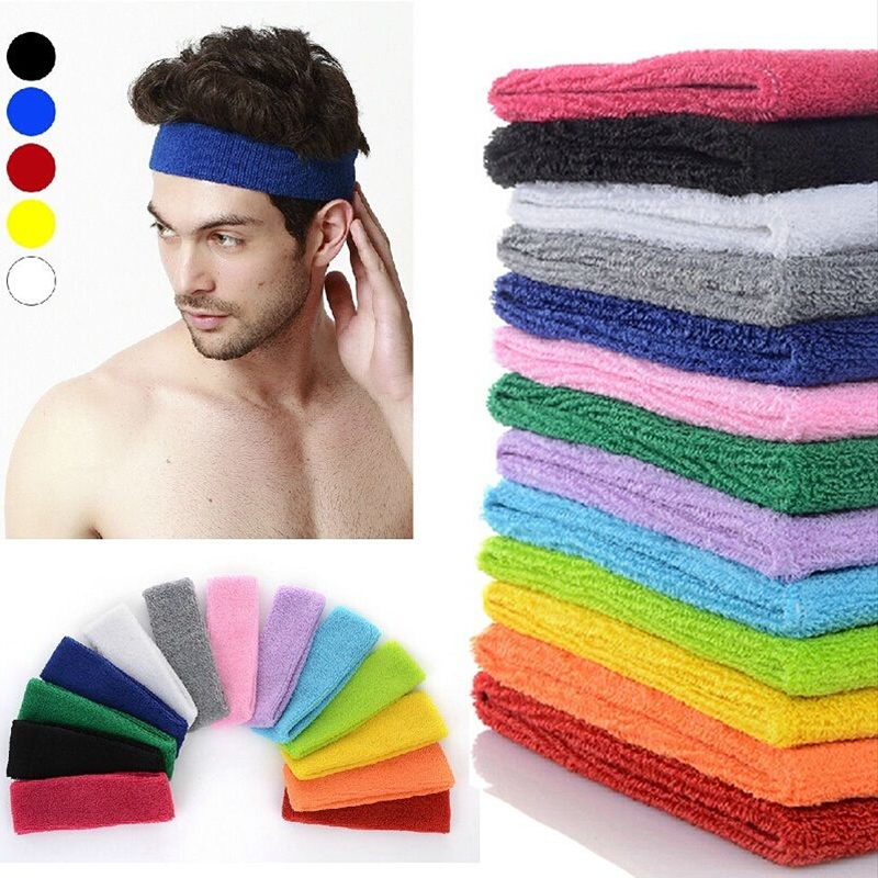 Women Mens Sports Headband Cotton Hairband Stretchy Sweatbands Yoga Gym <strong>Hair</strong> Head Band Ladies <strong>Hair</strong> <strong>Accessories</strong>