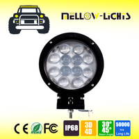 High quality 7 inch 60w truck led work light for off road cars atv suv truck vehicle boat motorcycle