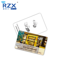 Pre-printed CR80 13.56Mhz MIFARE 1K PVC proximity smart rfid card for access control