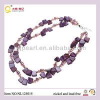 jewellery 2-row shell beads necklace costume jewellery