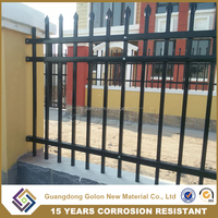 2016 hot sale galvanized steel / aluminum cheap garden fence / used fencing for sale
