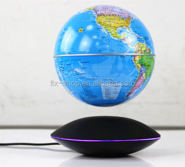 High-end Home Decorative Educational Electric Levitating Globe, Magic Floating Magnetic Suspension Globe, Table UFO Maglev Globe