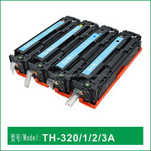 compatible HP color printer toner cartridge 320A with high cost-perfoemance