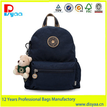 2016 Hot Sell Fashional Waterproof Nylon School Backpack Bag