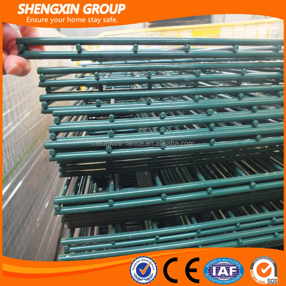 Easy install fence double wire welded fence panel made in china