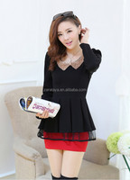 Adult Age Group fashionable Womens designer clothing office uniform pictures of blouses dress/ women's dresses