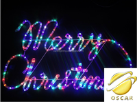 2D Merry Christmas motif lights/outdoor use motif lights