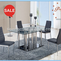 New Luxury Tempered Glass Dining Table