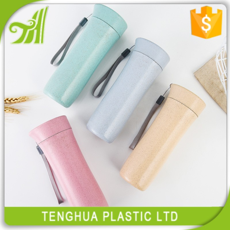 Healthy Wheat Straw Custom Water Bottle With High Quality