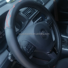 Popular Style 13 Inch Car Black Leather Steering Wheel Cover