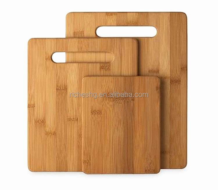 FSC verified 3 piece bamboo cutting board set