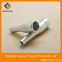 China manufacturer high quality cnc machined parts,auto spare parts, cnc turning exhaust pipe parts