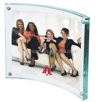 8x10 curved acrylic picture frame with magnets