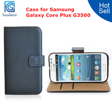 Leather Flip Case for Samsung Galaxy Core Plus G3500 Wallet Cover