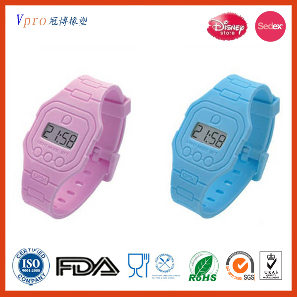 2016 Hot sale fashion silicone wrist watches for couples