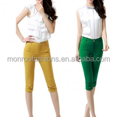 monroo Korean Fashion All-matched Cropped Trousers For Women