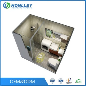 Honlley bathroom guangzhou prefabricated house poland, ceramic prefab houses australian