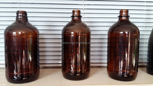 BROWN GLASS CHEMICAL BOTTLES