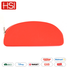 Wholesale fashion custom hot sale waterproof pen zipper school silicone pencil bag