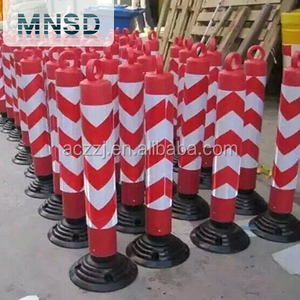 2017 hot sale factory price road safety flexible warning plastic bollards reflective delineator post