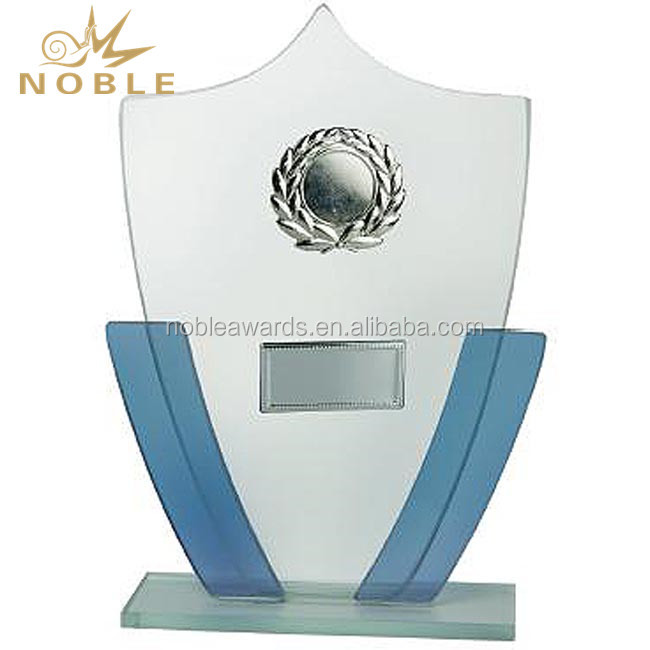 High Quality Custom Made Crystal Shield Trophy Award