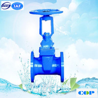 double disc cast iron/ductile iron gear operated gate valve