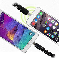 New Bead Bracelet USB Recharge Cable Data Link Power Adapter For Apple Android
