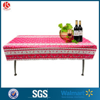 "Eco-friendly Birthday Party Plastic Tablecloth/printed Plastic Table Cover/54""x108"" Pe/peva Printed Tablecloth"