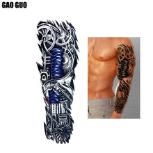 Wholesale Full Arm Sleeve Temporary Tattoo Designs For Men