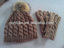 2014 Latest Simple Fashion Scarf Hat Glove Sets