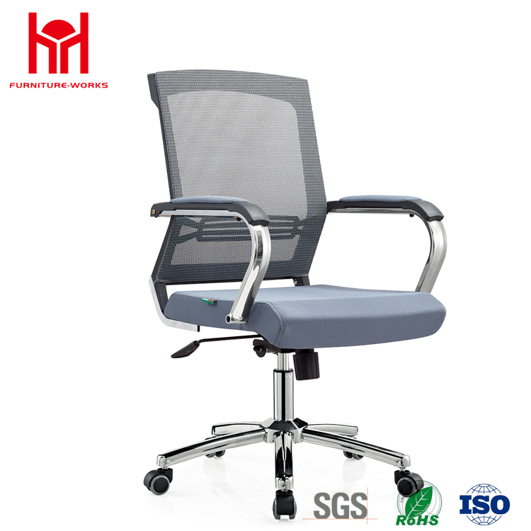 Luxury Middle Grey Mesh Office Chair Boss Chair